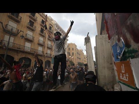 شاهد: تواصل الاحتجاجات في بيروت رغم استقالة الحكومة  - نشر قبل 54 دقيقة