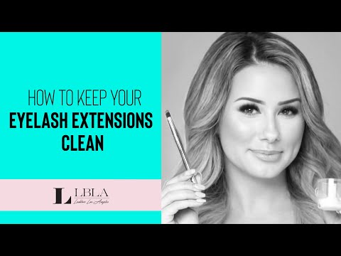 How to Keep your Eyelash Extensions Clean with Bubble Wash Shampoo.