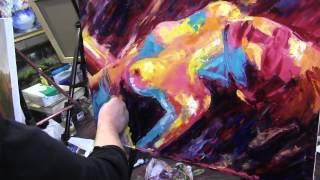 Игорь Сахаров, научиться рисовать маслом фигуру, девушку, мастихиновая живопись(, 2015-08-28T21:50:13.000Z)