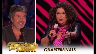 "Vicki Barbolak: Naughty Comedian Invites Simon To Get ""TRAILER NASTY""!! 