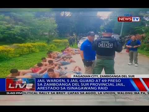 Jail warden, 5 jail guard at 69 preso sa Zamboanga del Sur Provincial Jail, arestado