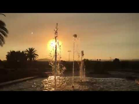 A sunrise tour of the La Sierra University campus