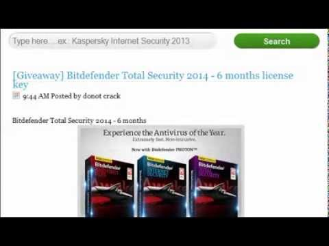Bitdefender Total Security 2014 6 months trial - YouTube