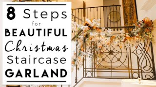 CHRISTMAS DECORATING | Christmas Garland Decoration for Your Stairway