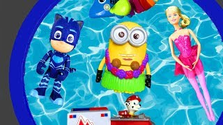 Learn with Bucket of Toys - Learn Characters with Pj Masks, Barbie and Paw Patrol for Kids