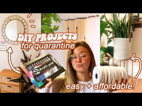 DIY PROJECTS WHILE STUCK AT HOME...easy and affordable