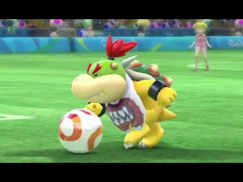 Mario & Sonic at the Rio 2016 Olympic Games - Football (Gameplay with All Characters)