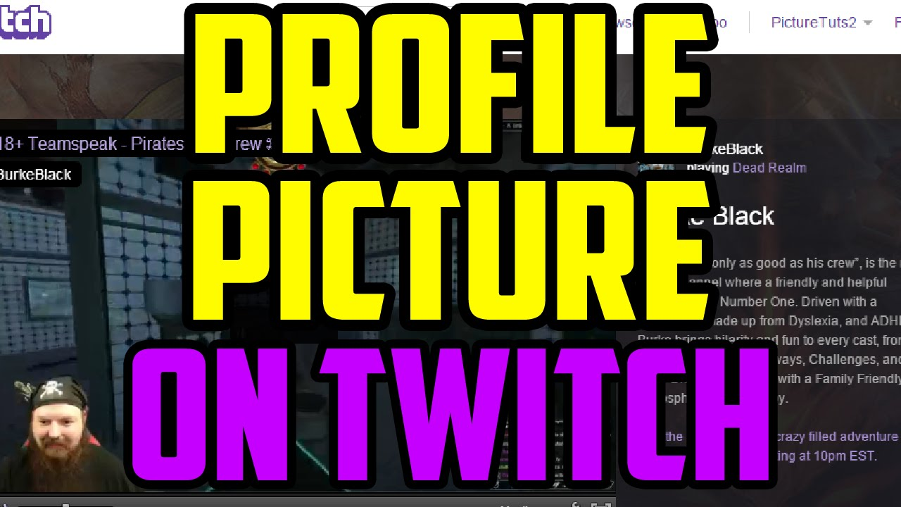 Twitch - How To Change Your Profile Picture 2017 (QUICK ...