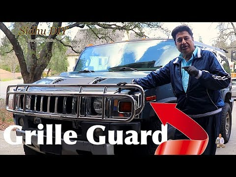 How To Install Grille Guard on 2008 H2 HUMMER | How To Modify Front Plastic HUMMER Grill