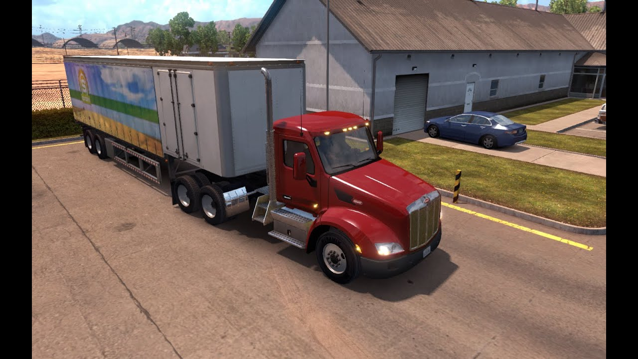 american truck simulator jogando no controle do xbox 360. Black Bedroom Furniture Sets. Home Design Ideas