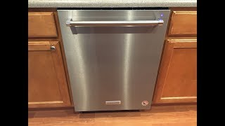 Review and testing of KitchenAid dishwasher model KDTE334GPS0