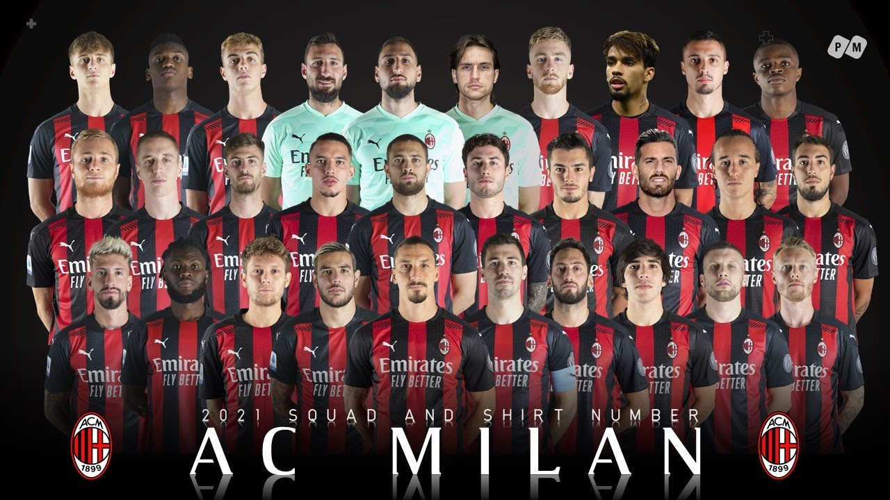 Ac Milan Official Squad And Shirt Number 20 21 Pm Youtube