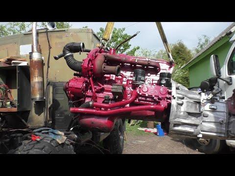 ГАЗ 66 УСТАНОВКА И ПЕРВЫЙ ЗАПУСК дизельного двигателя FIAT 5.9 ( ШИШИГУ) от авто ИВЕКО ЕВРОКАРГО