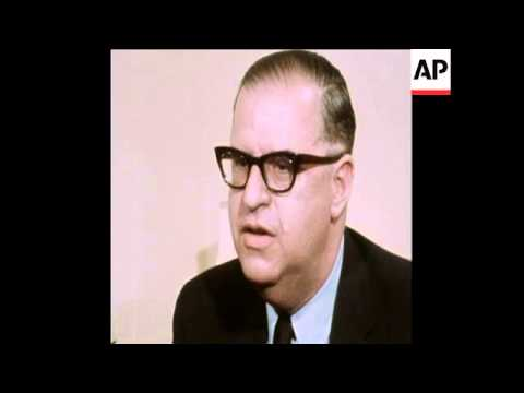 SYND 23/05/70 ABBA EBAN IN LONDON TALKING TO NEWSMAN ABOUT ISRAEL ARMED REACTION TO SCHOOL BUS ATTAC