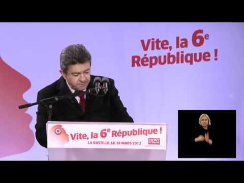 French Left-Front - Mélenchon - Speech at Bastille part 1-2