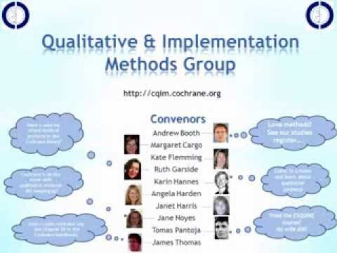 CCC Qualitative evidence synthesis and Cochrane Reviews;