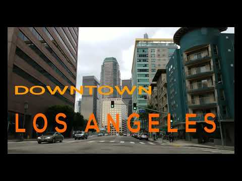 Driving in Downtown Los Angeles California in 4K