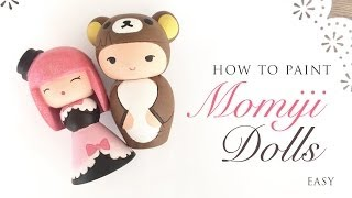Paint Your Own Momiji Dolls - Cute ASMR Craft Tutorial