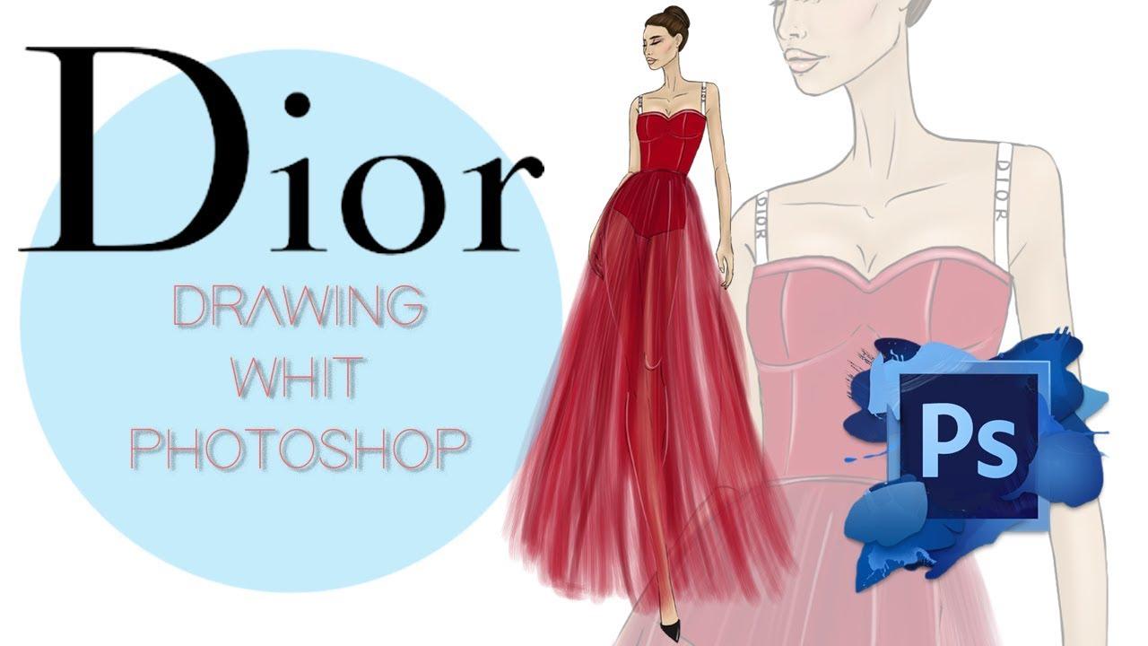 Drawing Whit Photoshop Fashion Illustration Youtube
