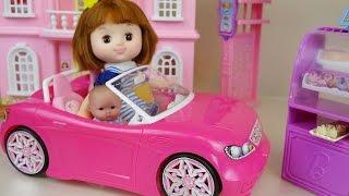 Baby Doll Pink car and Bakery toys picnic play thumbnail
