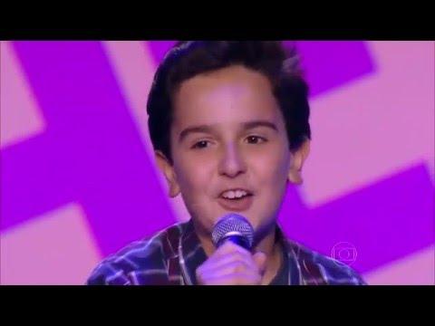 Gabriel Gava canta 'Dois Rios' no The Voice Kids - Audições|1ª Temporada