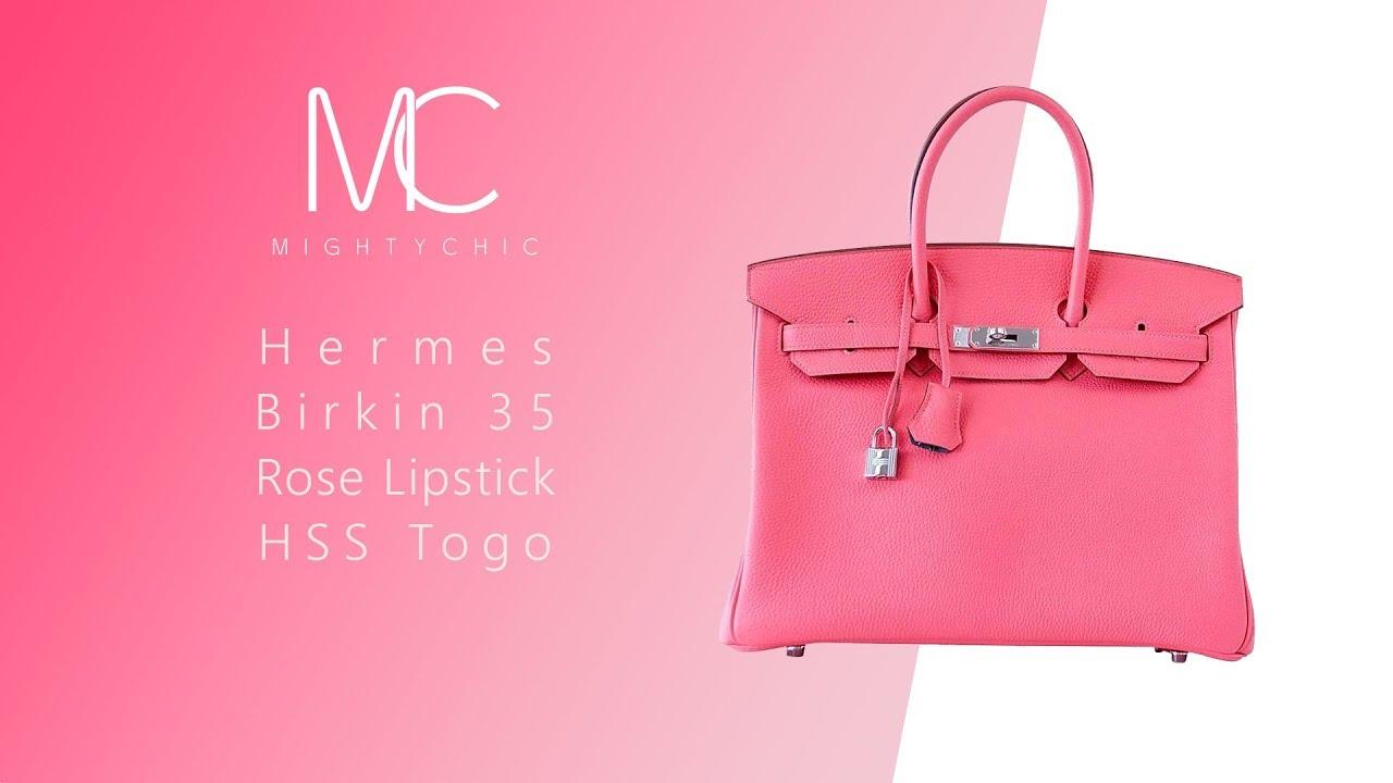 017ee2a3152e MIGHTYCHIC • Hermes Birkin 35 Rose Lipstick HSS Togo PHW - YouTube