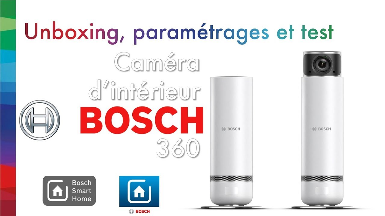 cam ra de surveillance int rieure bosch 360 youtube. Black Bedroom Furniture Sets. Home Design Ideas
