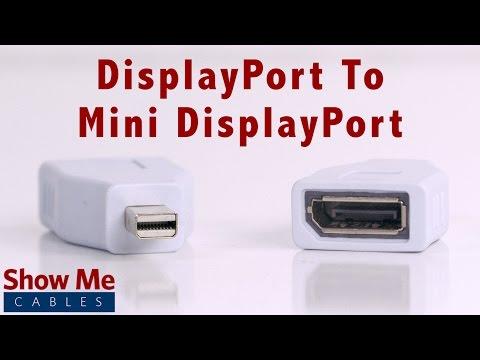 High Definition DisplayPort to Mini DisplayPort Adapter - Makes Video Easy #2916