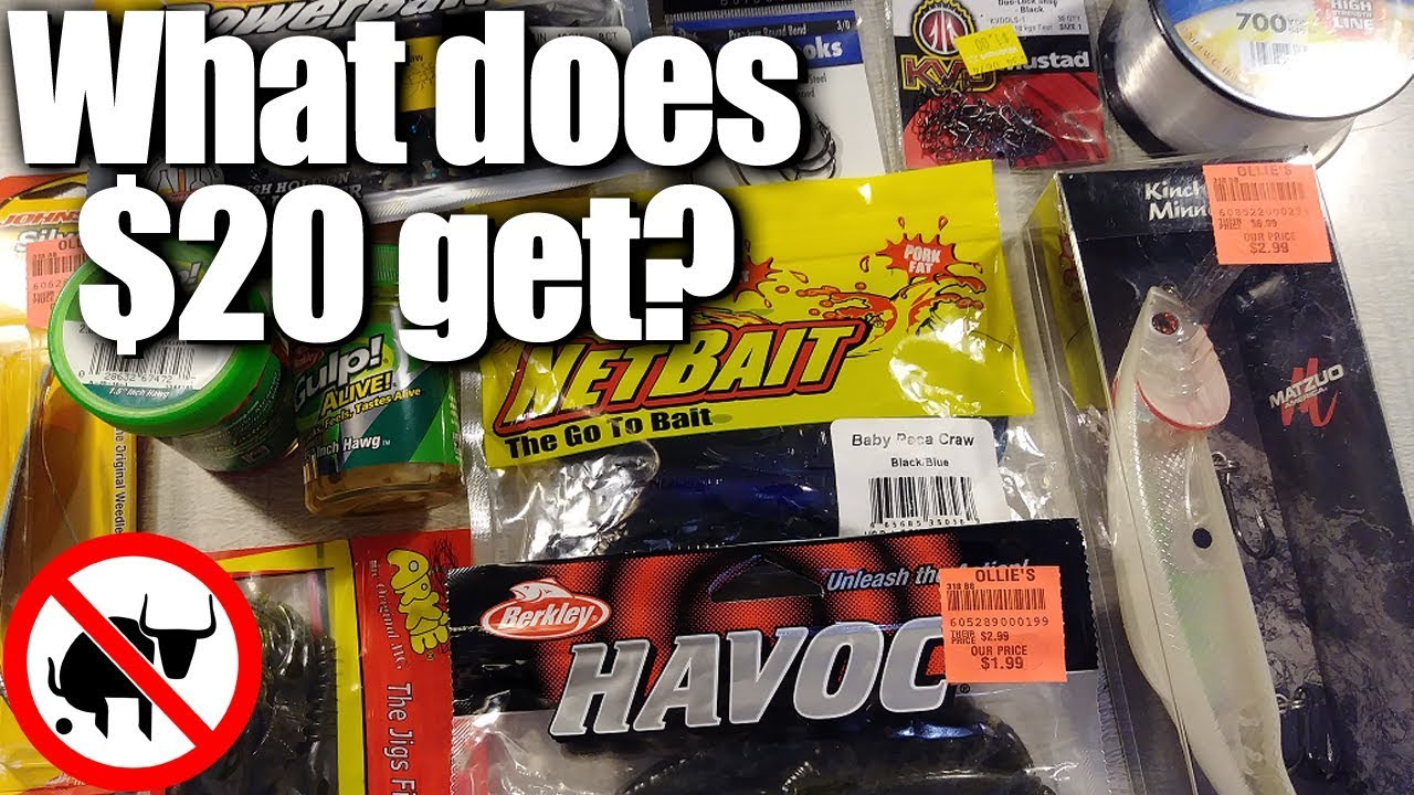 How Much Fishing Tackle Can I Get For $20? Budget Fishing Gear