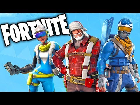 fortnite christmas skins gameplay