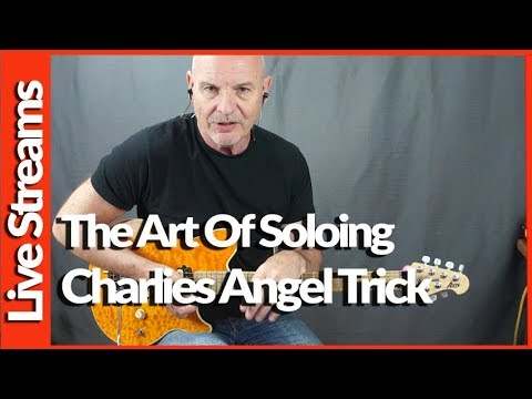 Geoff Sinker - Live - Discussing Soloing For Beginners - Charlie's Angel Trick