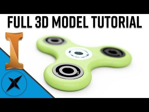 Fidget Spinner 3D Model Full Tutorial   Autodesk Inventor