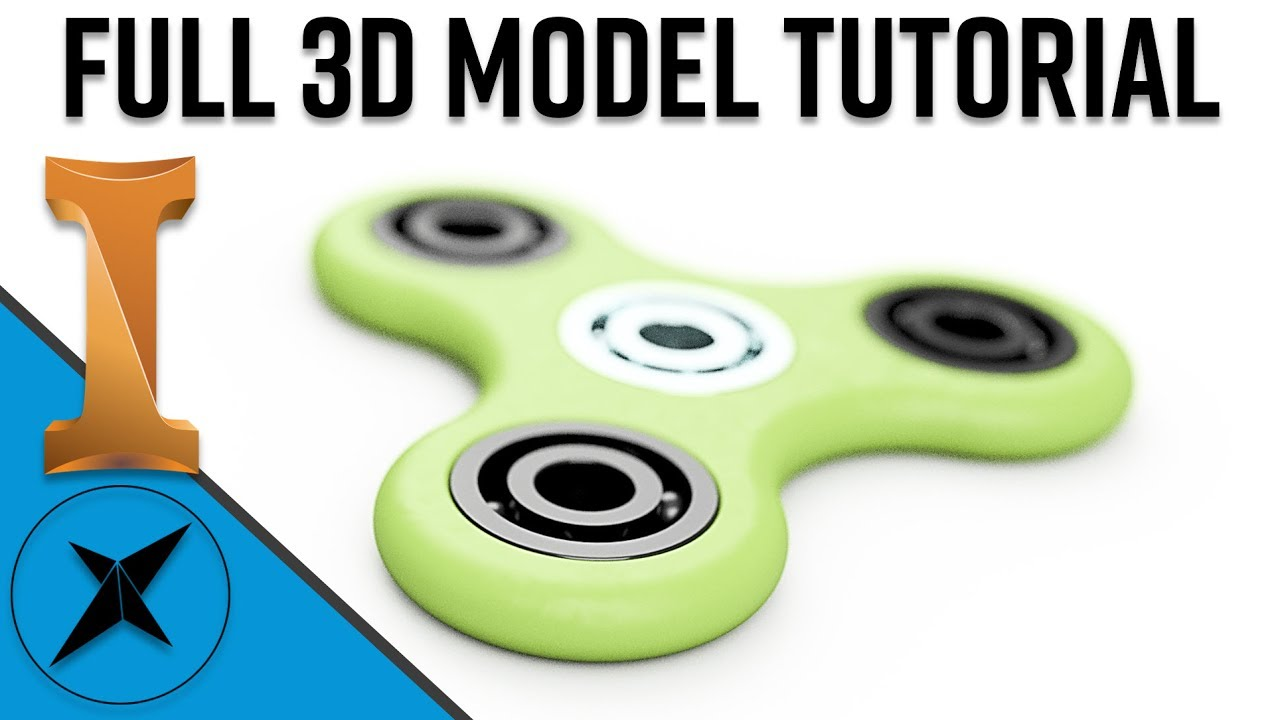 how to make a fidget spinner on autodesk