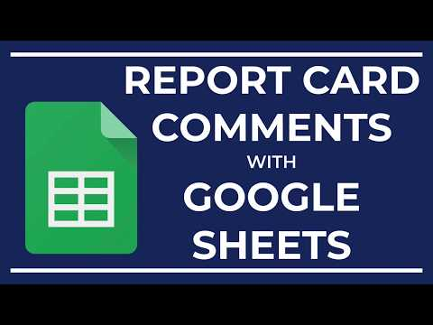Report Card Comments Made Easy