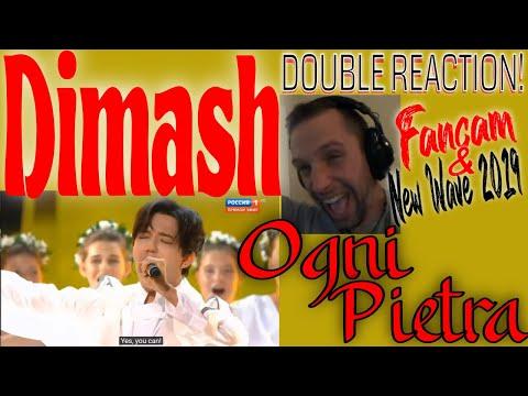 DIMASH - OGNI PIETRA (Olympico) - Fancam & Sochi 2019!!! - Rock Musician DOUBLE REACTION