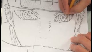 How to Draw Pain From Naruto Shippuden - HTD(Hey guys I'm back with a how to draw pain video, anyways hope you guys enjoy and if you did, feel free to hit that subscribe button!!!! =] Background music!, 2016-06-30T14:56:01.000Z)