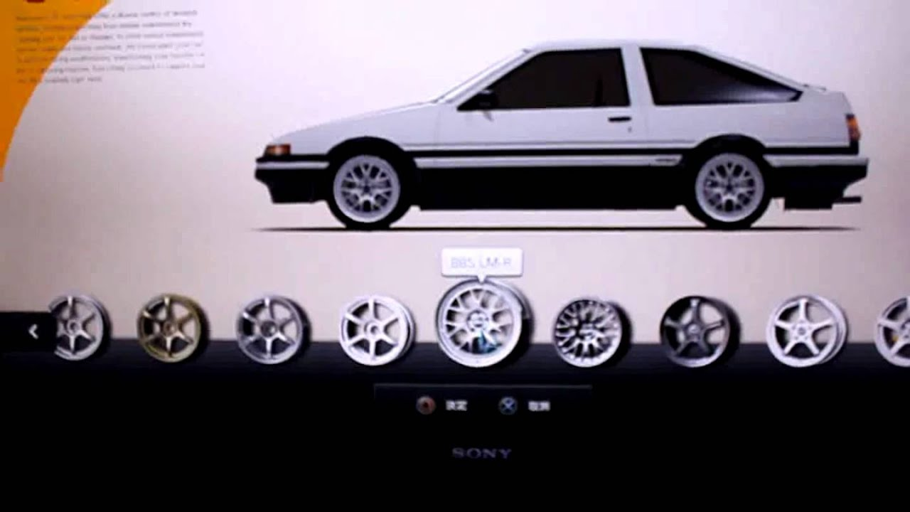 gran turismo 5 spec ae86 initial d style wheel change youtube. Black Bedroom Furniture Sets. Home Design Ideas