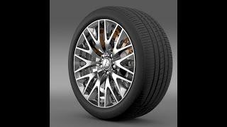 3D Model of Mitsubishi Dignity wheel Review