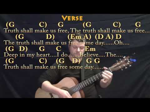 We Shall Overcome (HYMN) Guitar Lesson Chord Chart In G With Chords/Lyrics
