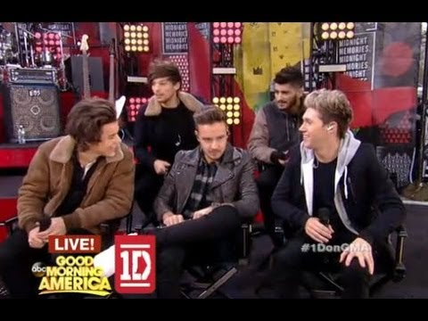 One Direction GMA Interview Announce 1st USA Tour 2014 Tell All Interview on GMA