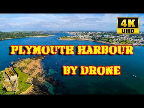 Plymouth Harbour Drone 4K July 2017