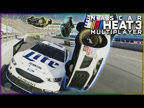 Online Racing Is Just Battle Royale With Cars | Multiplayer | NASCAR Heat 3
