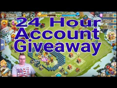 24 Hour Account Giveaway Castle Clash