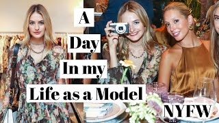 Day in the Life of a Model | Runway Makeup GRWM, Walking New York Fashion Week, & Events | Sanne
