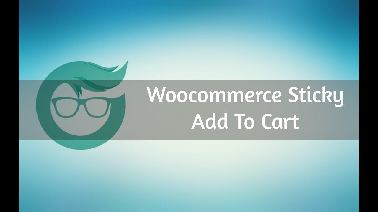 Sticky add to cart for WooCommerce – WordPress plugin | WordPress org