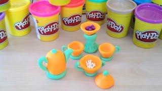 Развивающие видео: лепим из пластилина Play doh. Игрушки для детей