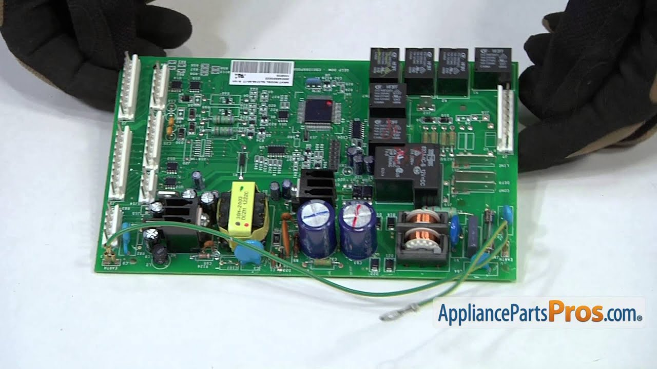 Refrigerator Main Control Board (part #WR55X10942P)How To Replace  YouTube