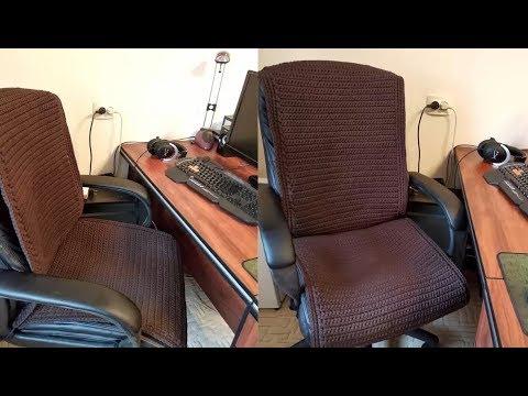 Вязать крючком вязать чехлы стулья