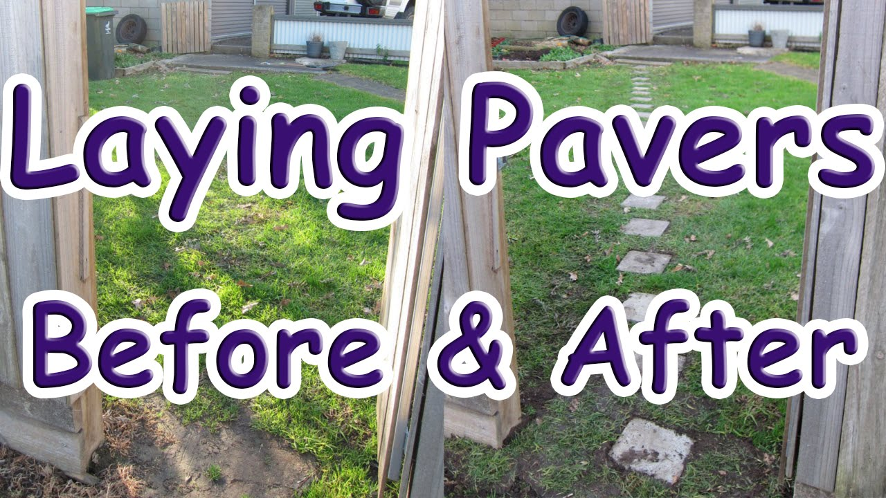 How to Install Brick Pavers on Grass (Installing Brick ...