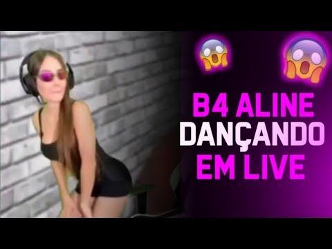 B4 ALINE DANÇANDO EM LIVE   GOD WINS ZOANDO UBITA